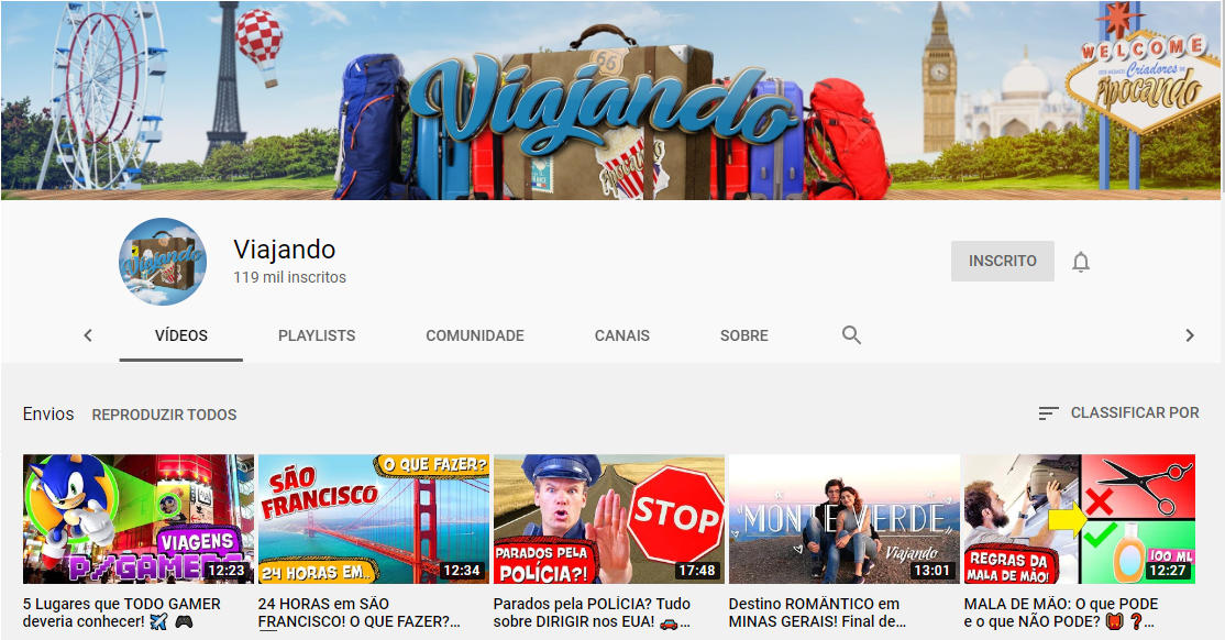 conteúdo para o Youtube
