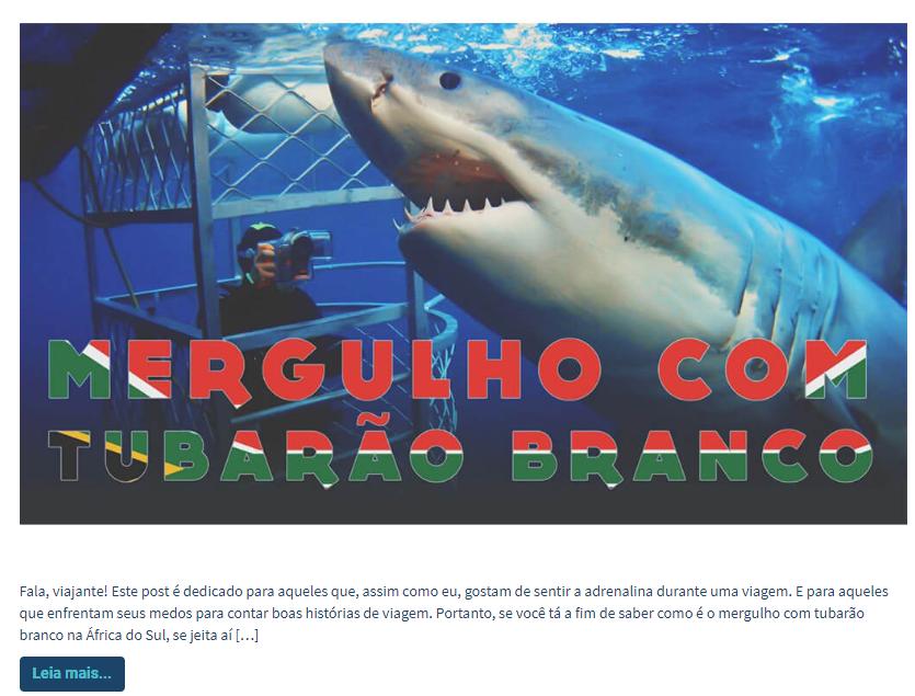 conteúdo mergulho com tubarão