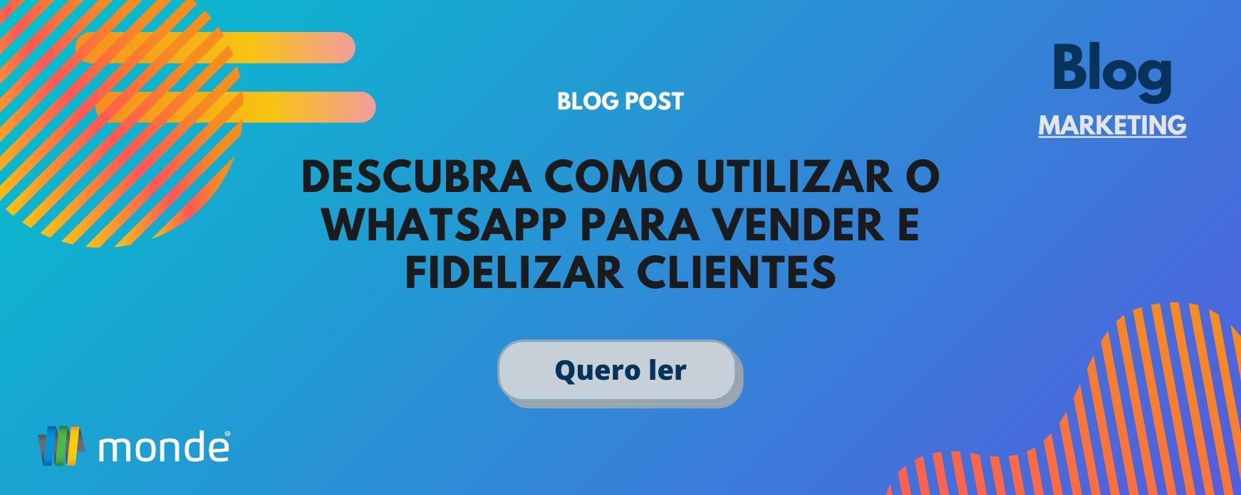 whatsapp para fazer vendas